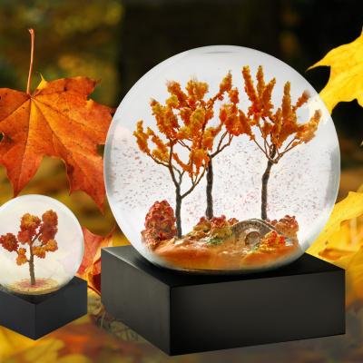 snekugle med efterårs landskab