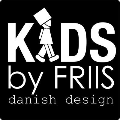 kids by friis logo, sort baggrund