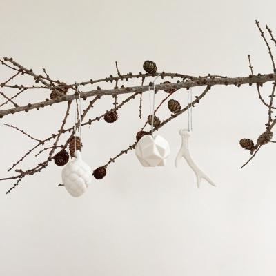 julepynt på gren