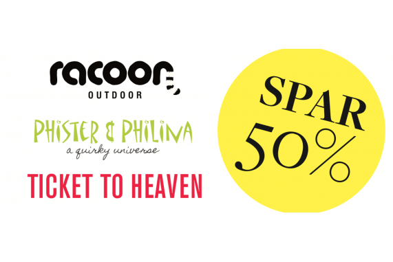 Phister & Philina, Racoon Outdoor & Ticket to Heaven lagersalg