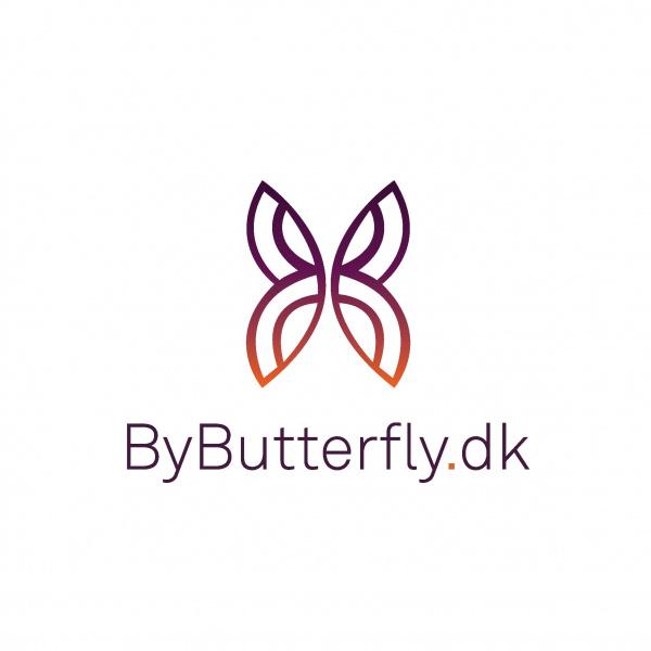 by butterfly logo