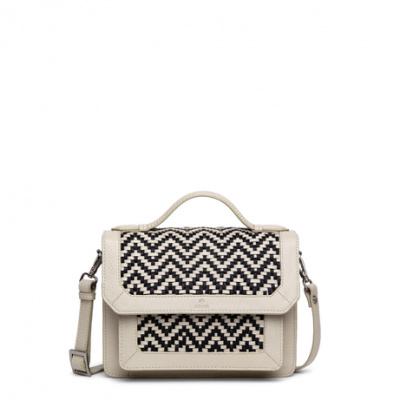 adax taske til lagersalg, hvid med mønster