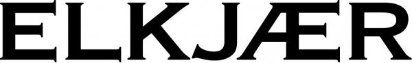Elkjær logo sort/hvid