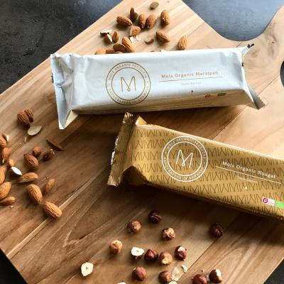 Økologisk marcipan i pakker fra Mols Organic