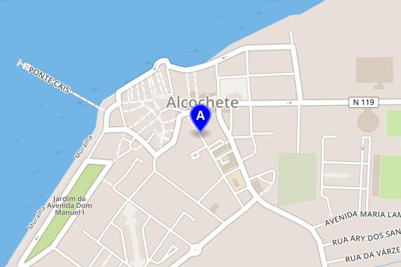 Kort for Freeport Outlet Alcochete