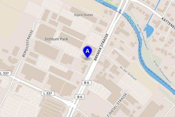 Kort for Ochtum Park Outlet